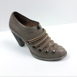 Messeca New York Taupe Leather Bootie